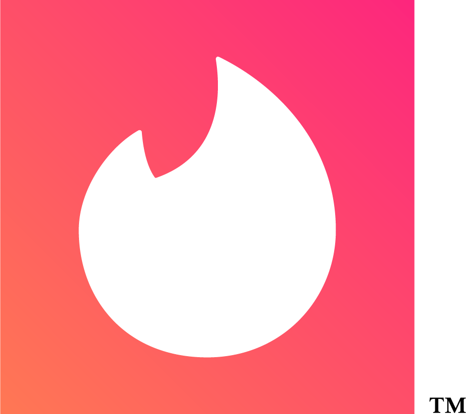 tinder white flame pink background